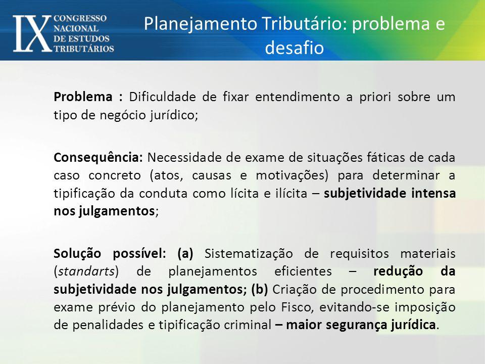 Planejamento Tributário: problema e desafio
