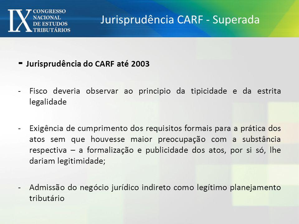 Jurisprudência CARF - Superada