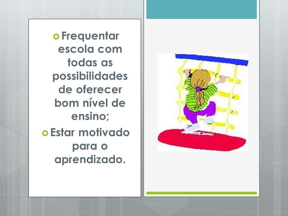 Estar motivado para o aprendizado.