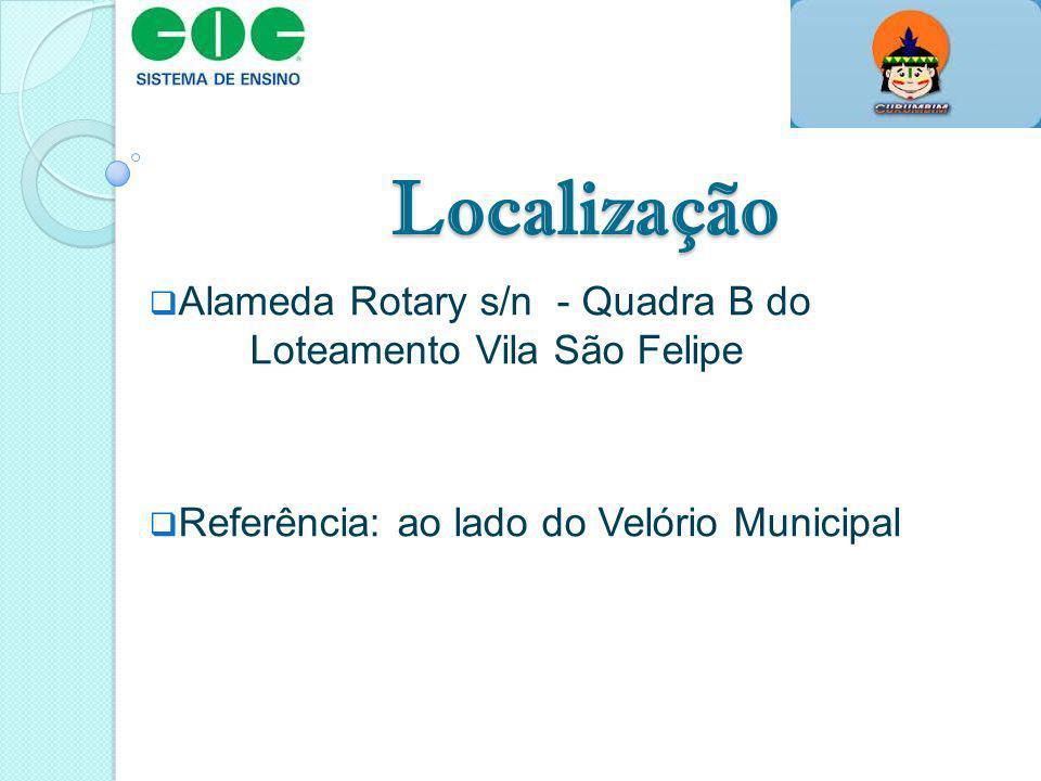Localização Alameda Rotary s/n - Quadra B do Loteamento Vila São Felipe.