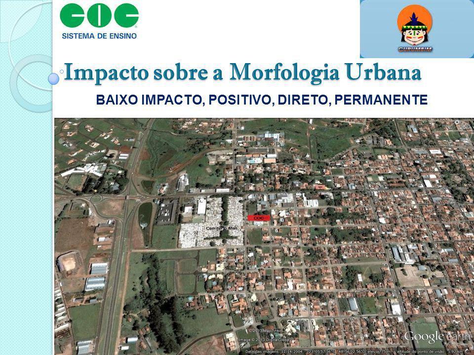 Impacto sobre a Morfologia Urbana