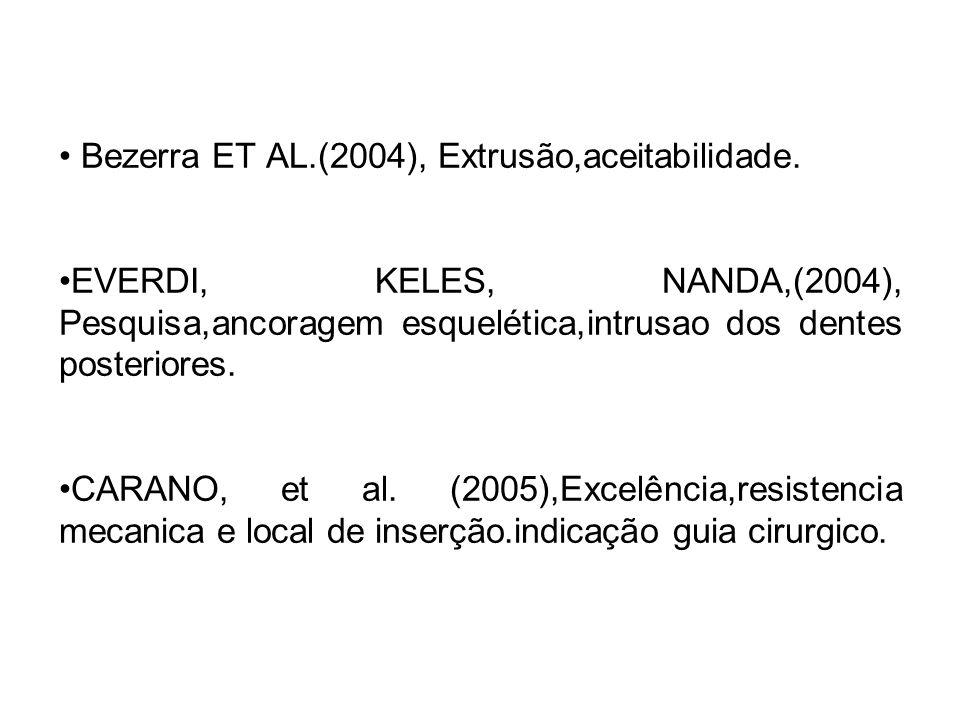 Bezerra ET AL.(2004), Extrusão,aceitabilidade.