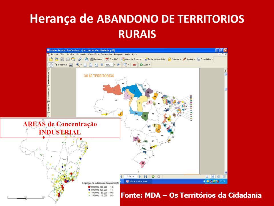 Herança de ABANDONO DE TERRITORIOS RURAIS