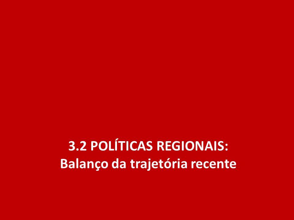 3.2 políticas regionais: Balanço da trajetória recente