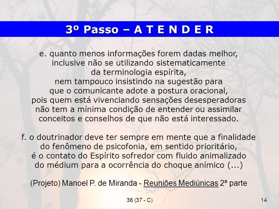 (Projeto) Manoel P. de Miranda - Reuniões Mediúnicas 2ª parte