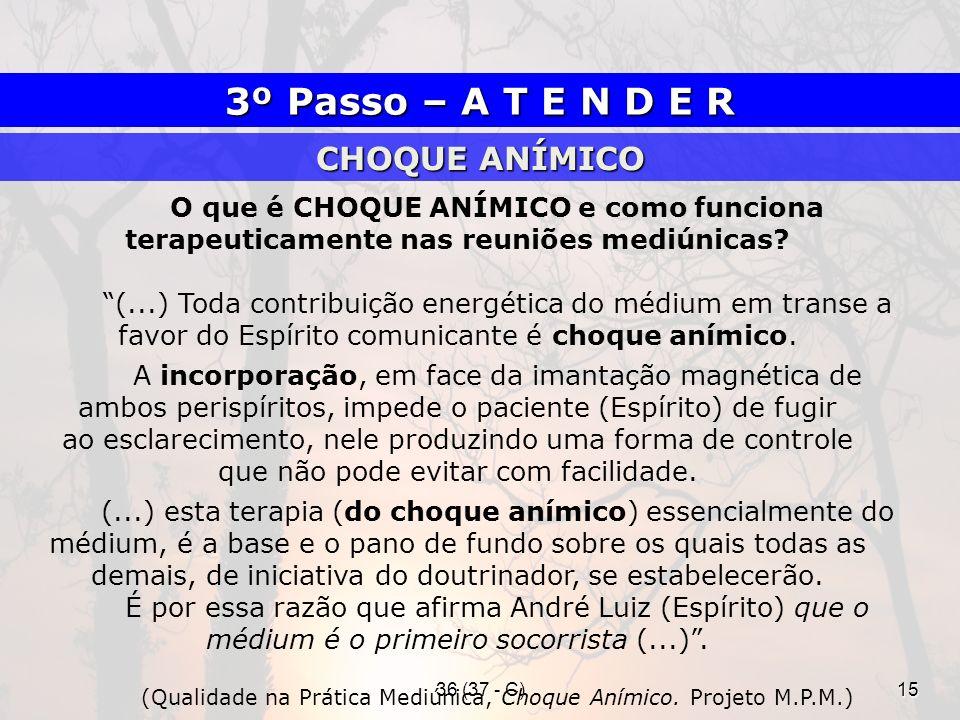 (Qualidade na Prática Mediúnica, Choque Anímico. Projeto M.P.M.)