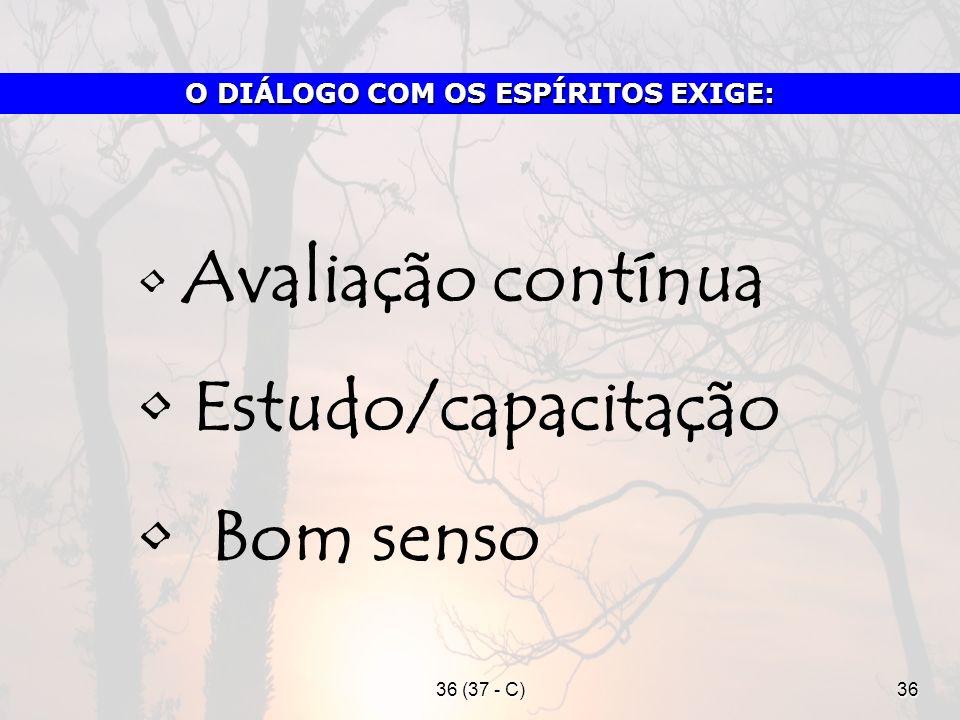 O DIÁLOGO COM OS ESPÍRITOS EXIGE: