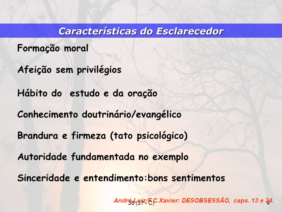 Características do Esclarecedor