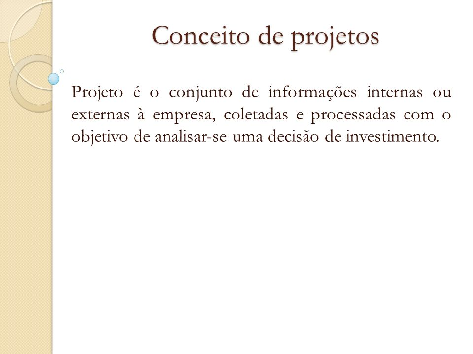 Conceito de projetos