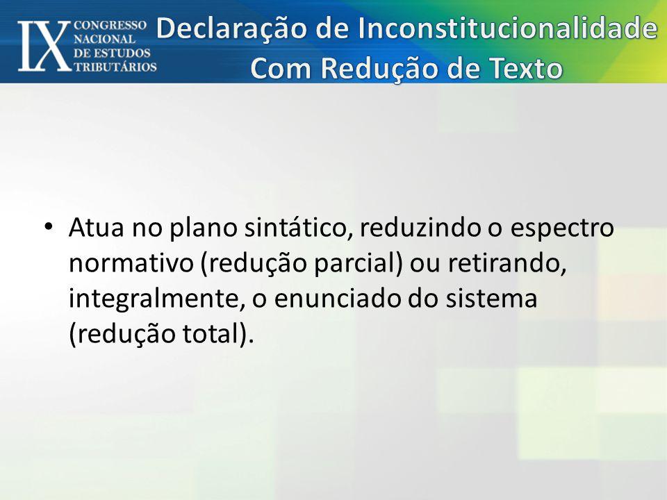 Declaração de Inconstitucionalidade Com Redução de Texto