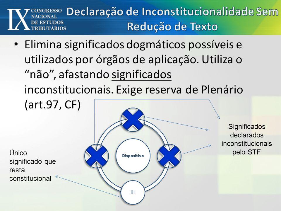 Declaração de Inconstitucionalidade Sem Redução de Texto