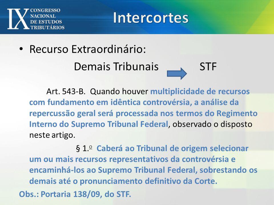 Intercortes Recurso Extraordinário: Demais Tribunais STF