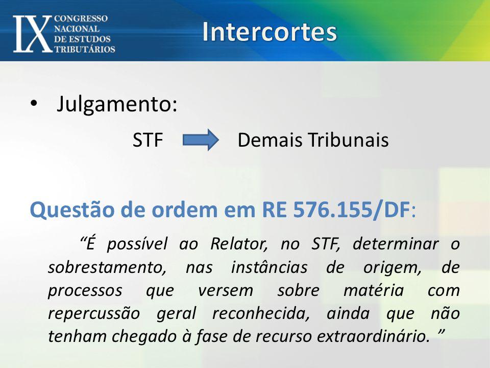 Intercortes Julgamento: STF Demais Tribunais