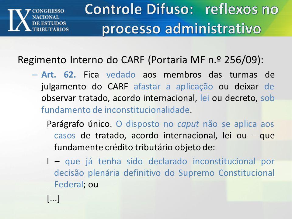 Controle Difuso: reflexos no processo administrativo