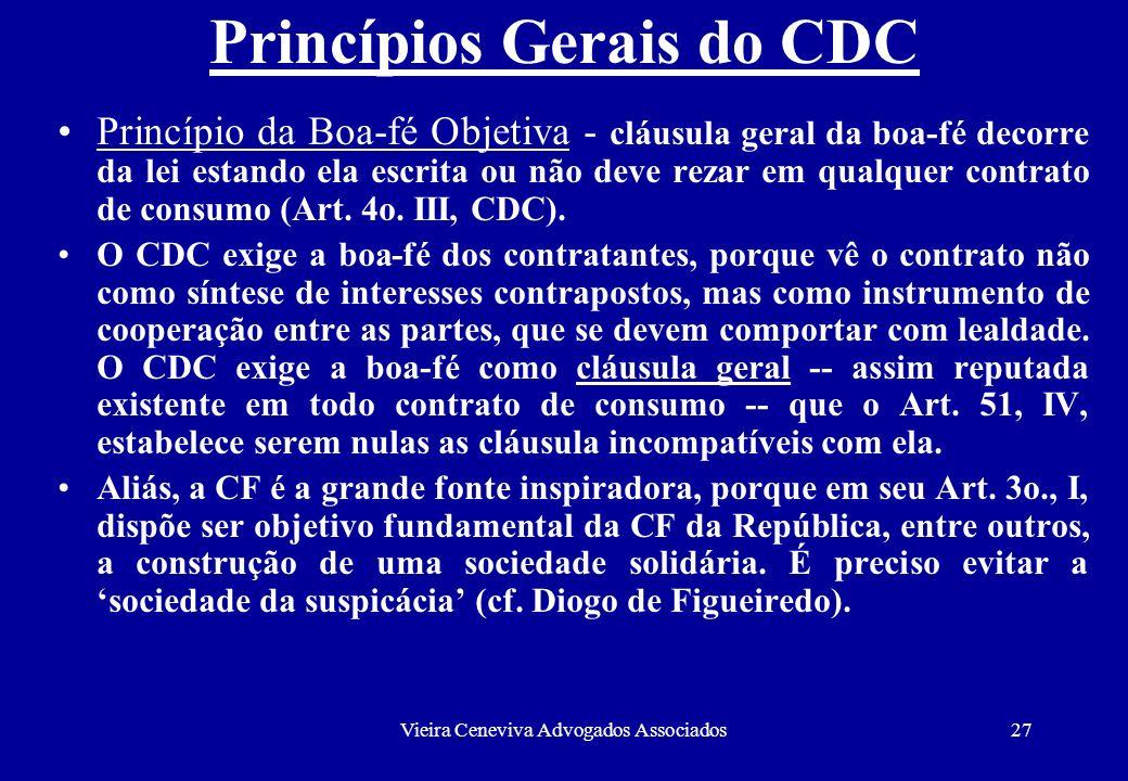 Princípios Gerais do CDC