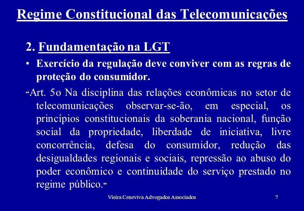 Regime Constitucional das Telecomunicações