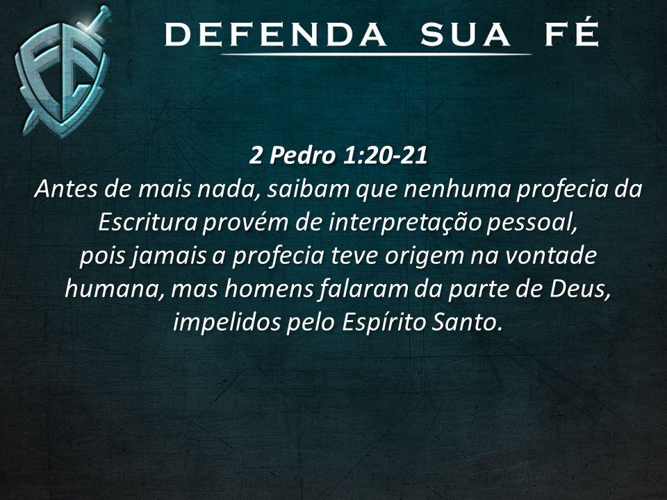 2 Pedro 1:20-21