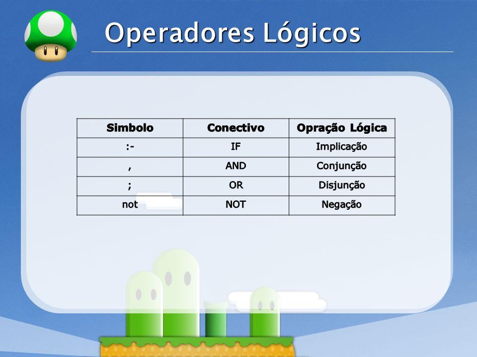 Operadores Lógicos Simbolo Conectivo Opração Lógica :- IF Implicação ,