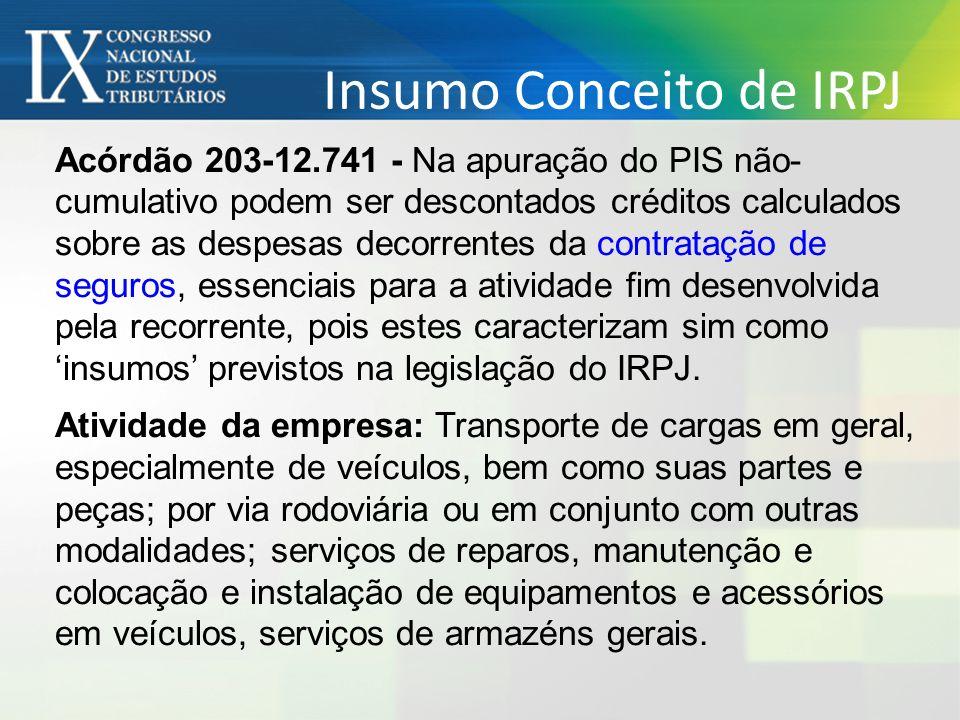 Insumo Conceito de IRPJ