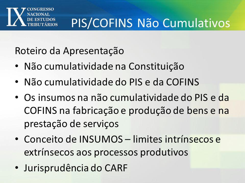 PIS/COFINS Não Cumulativos
