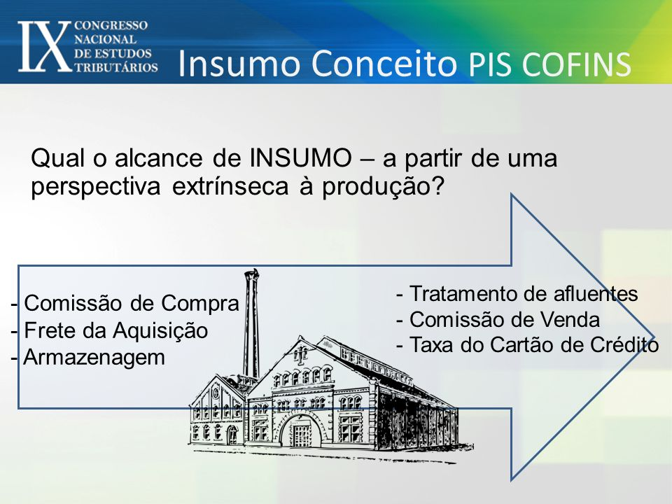 Insumo Conceito PIS COFINS