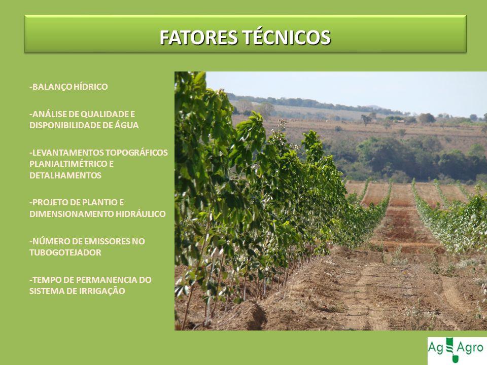 FATORES TÉCNICOS -BALANÇO HÍDRICO