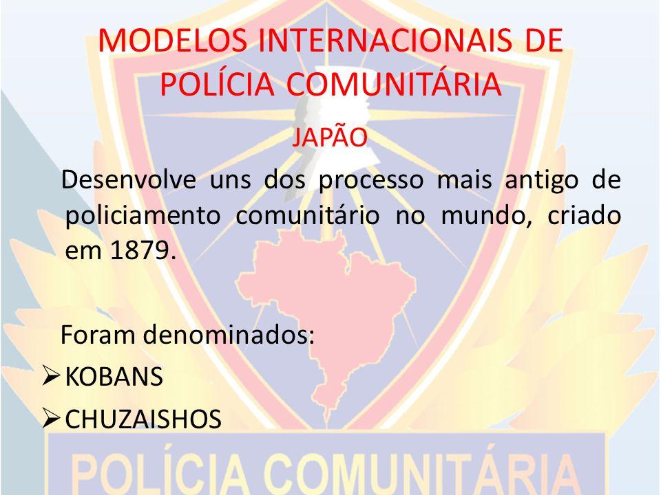 MODELOS INTERNACIONAIS DE POLÍCIA COMUNITÁRIA