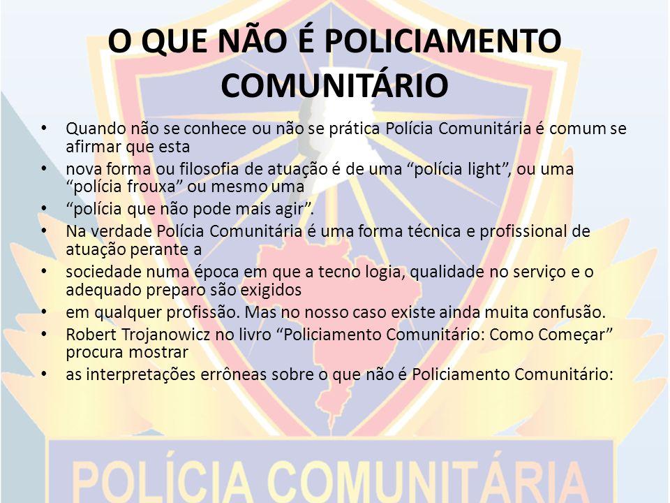 O QUE NÃO É POLICIAMENTO COMUNITÁRIO