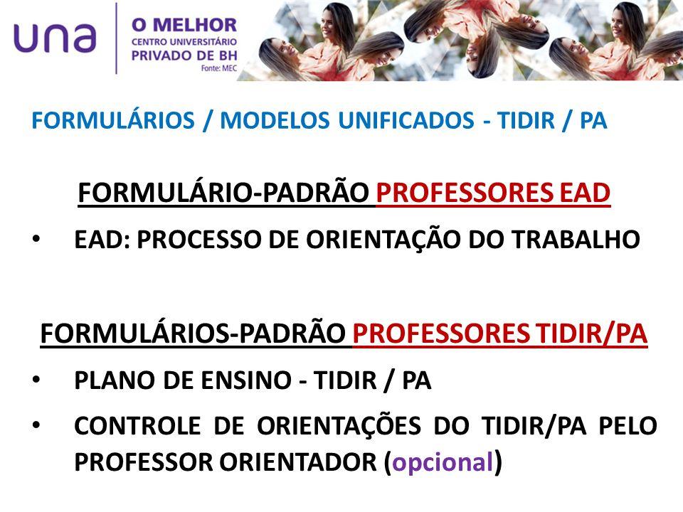 FORMULÁRIO-PADRÃO PROFESSORES EAD