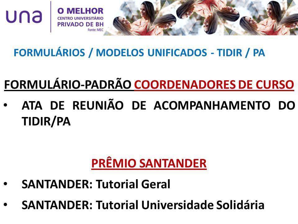 FORMULÁRIO-PADRÃO COORDENADORES DE CURSO