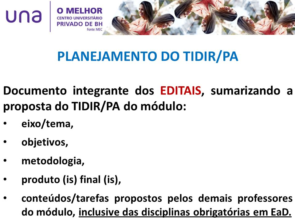 PLANEJAMENTO DO TIDIR/PA