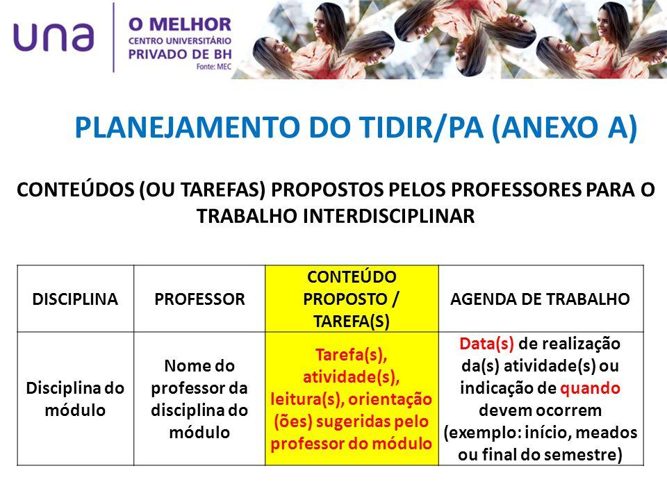 PLANEJAMENTO DO TIDIR/PA (ANEXO A)
