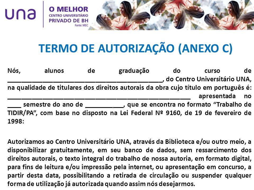 TERMO DE AUTORIZAÇÃO (ANEXO C)