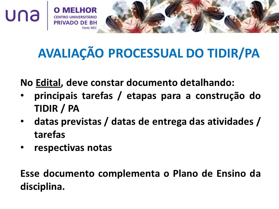 AVALIAÇÃO PROCESSUAL DO TIDIR/PA