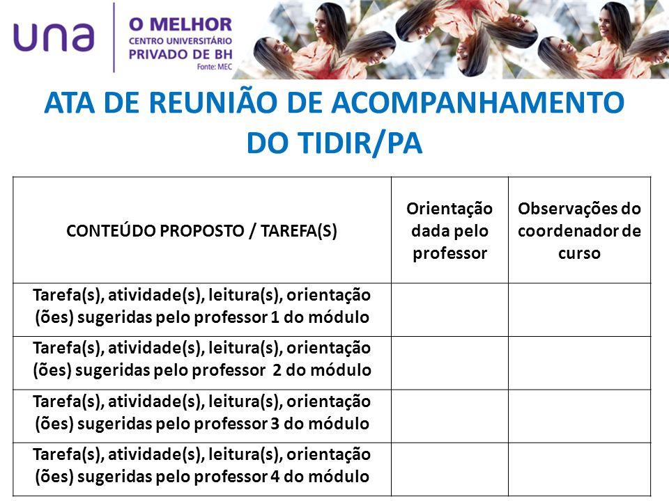 ATA DE REUNIÃO DE ACOMPANHAMENTO DO TIDIR/PA