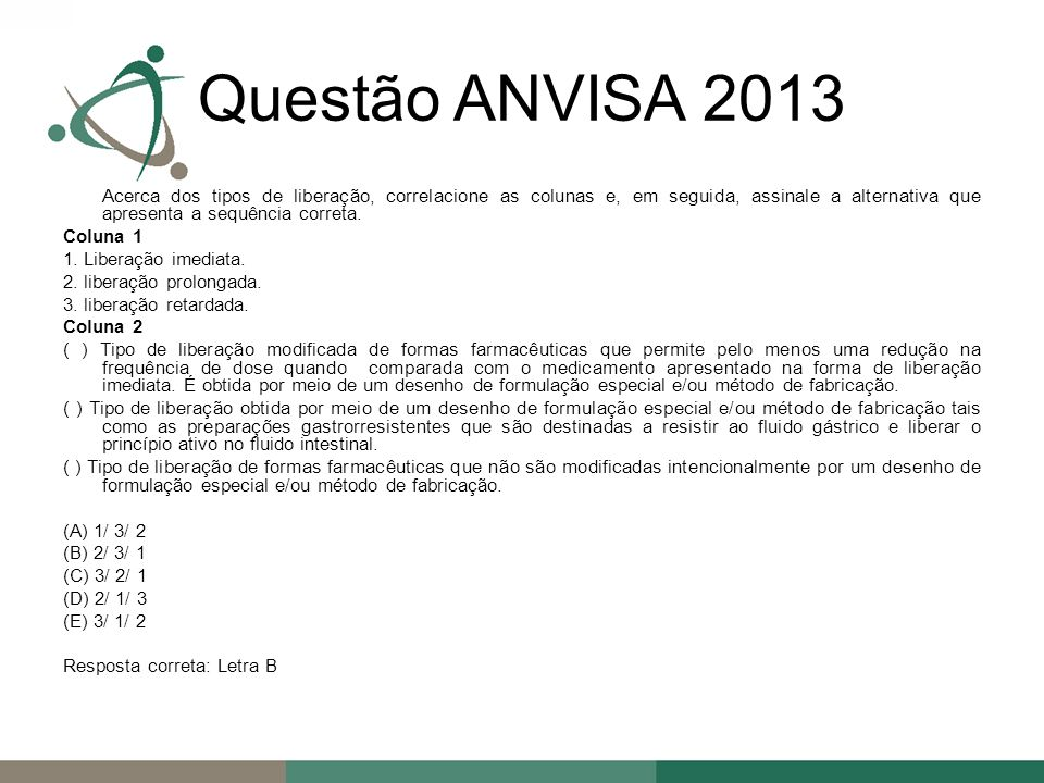 Questão ANVISA 2013