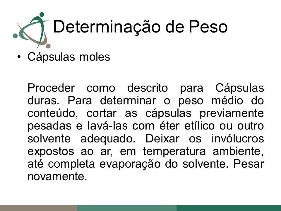 Determinação de Peso Cápsulas moles