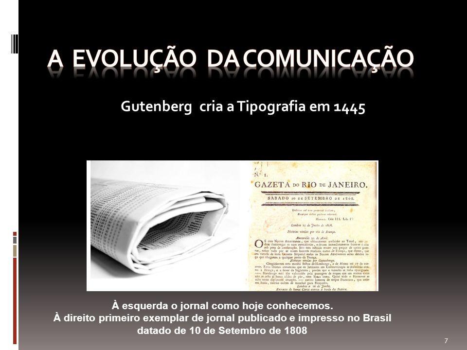 A EVOLUÇÃO DA COMUNICAÇÃO