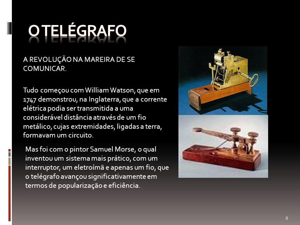 O telégrafo A REVOLUÇÃO NA MAREIRA DE SE COMUNICAR.