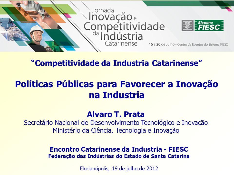 Políticas Públicas para Favorecer a Inovação na Industria