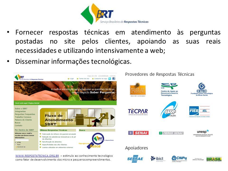 Disseminar informações tecnológicas.