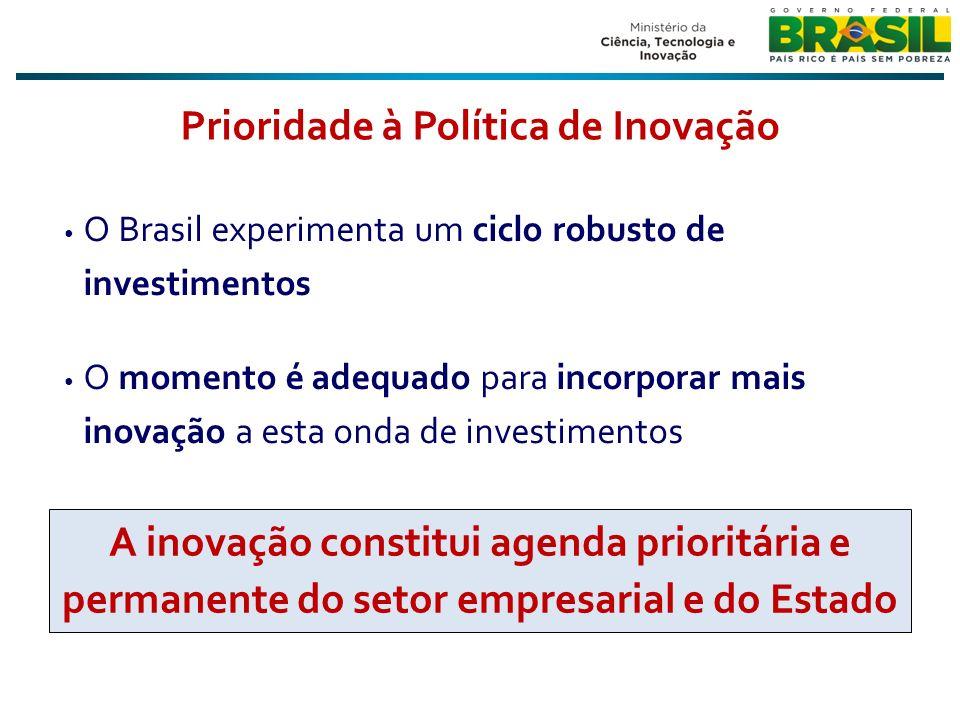Prioridade à Política de Inovação