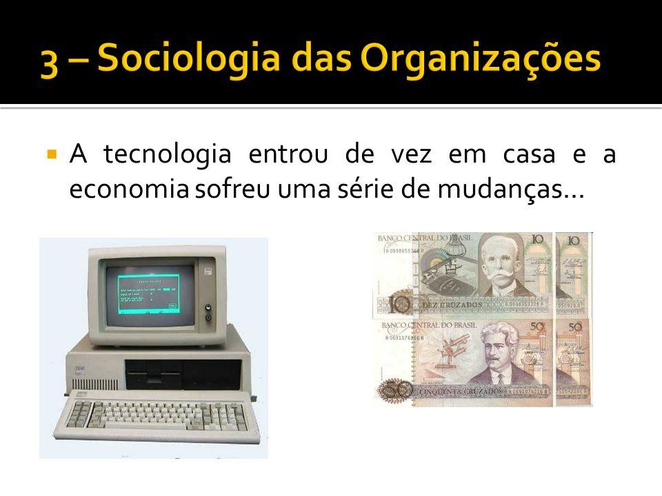 3 – Sociologia das Organizações