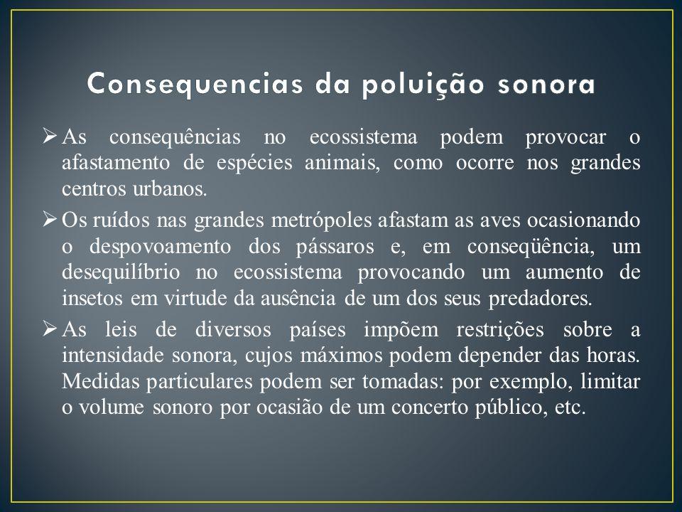 Consequencias da poluição sonora