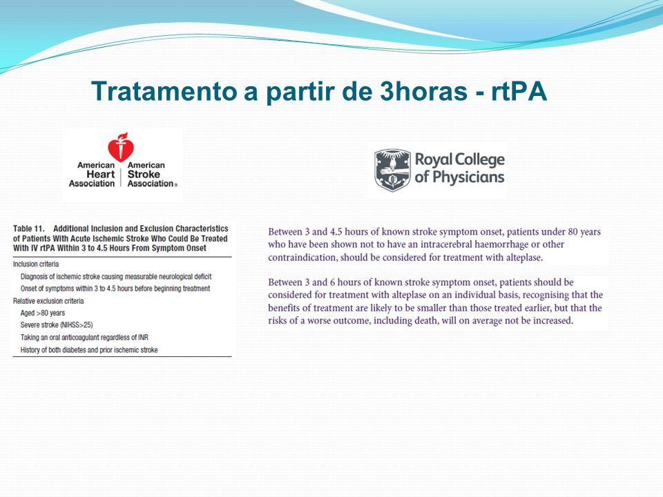Tratamento a partir de 3horas - rtPA