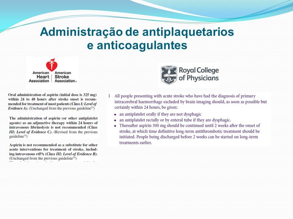 Administração de antiplaquetarios
