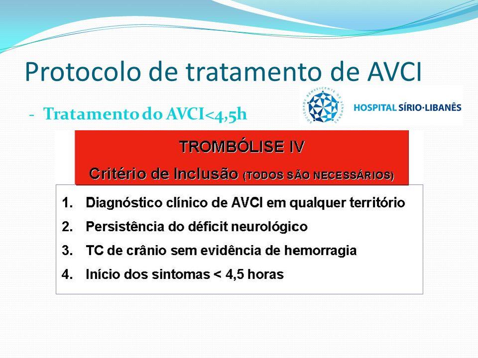 Protocolo de tratamento de AVCI