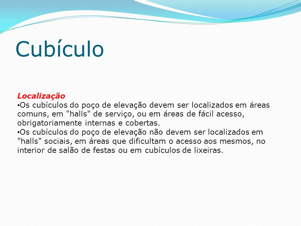 Cubículo Localização.