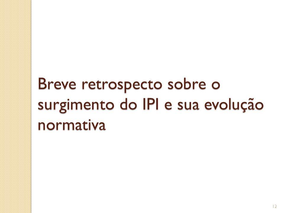 Breve retrospecto sobre o surgimento do IPI e sua evolução normativa