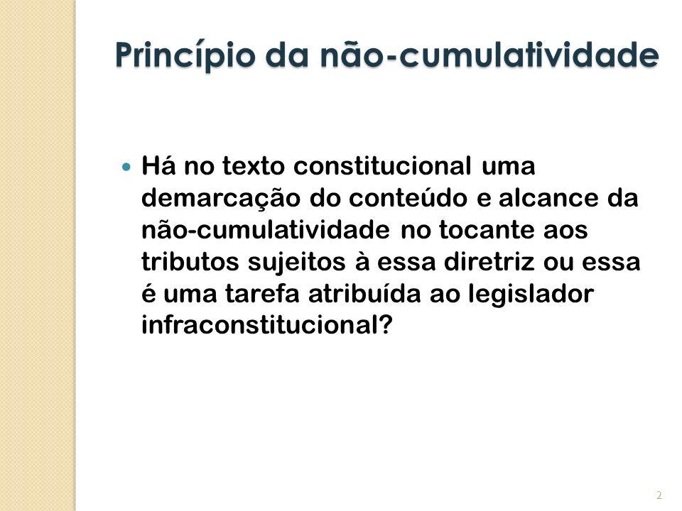 Princípio da não-cumulatividade